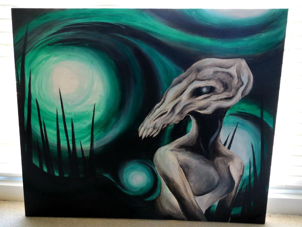 Skull Lady by fiyapheonix