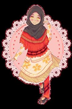 Moana Fan Art (Muslimah version)