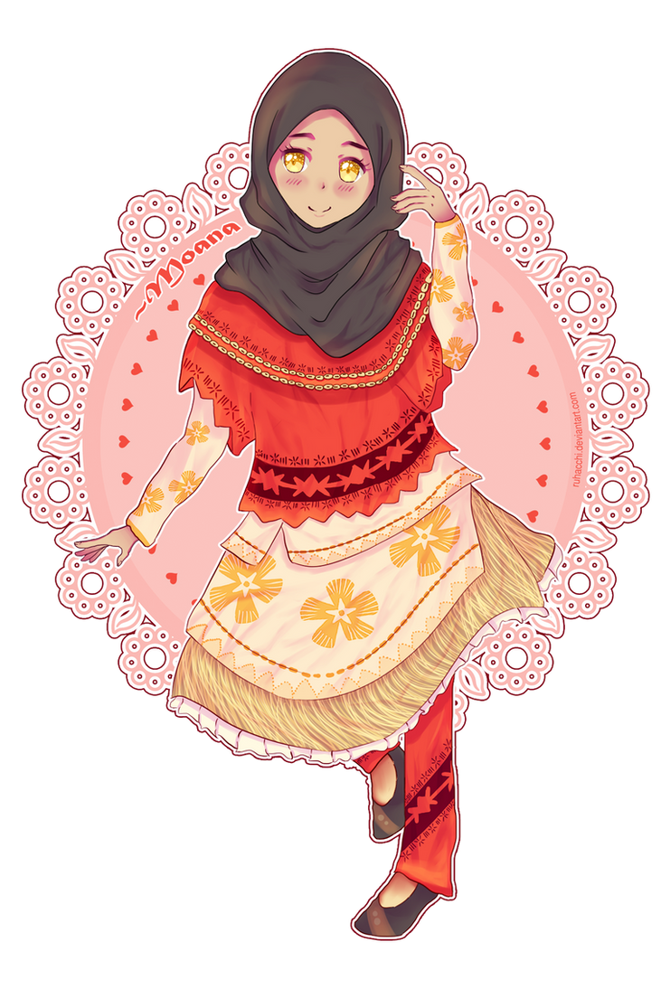 Moana Fan Art (Muslimah version) by Ruhacchi