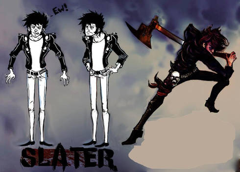 Slater Ax Comic Sheet Turn around