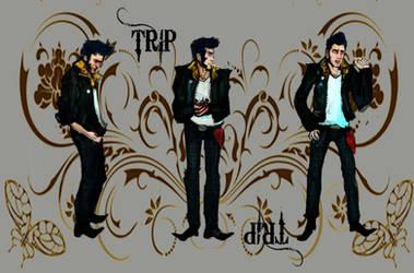 Trip Rockabilly Character Sheet Turnaround by omgitschanel