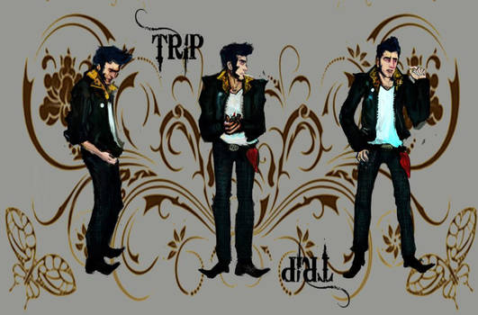 Trip Rockabilly Character Sheet Turnaround