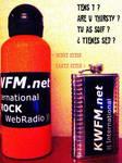 KWFM.net Sport Flask + Hip Flask (text) by KWFMdotnet