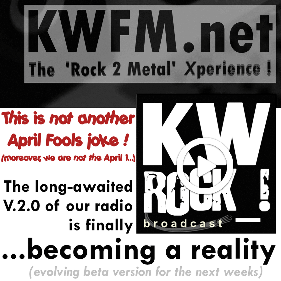KW ROCK_! radio _ ...not another April Fools joke! by KWFMdotnet