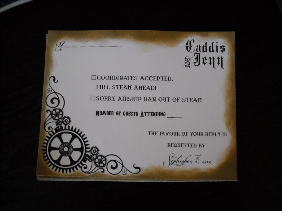 Gothic Steampunk Wedding Invitations by JennJennKitty on DeviantArt