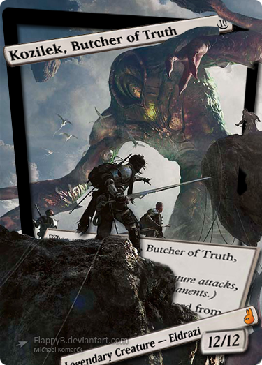 Kozilek, Butcher of Truth by flappyb