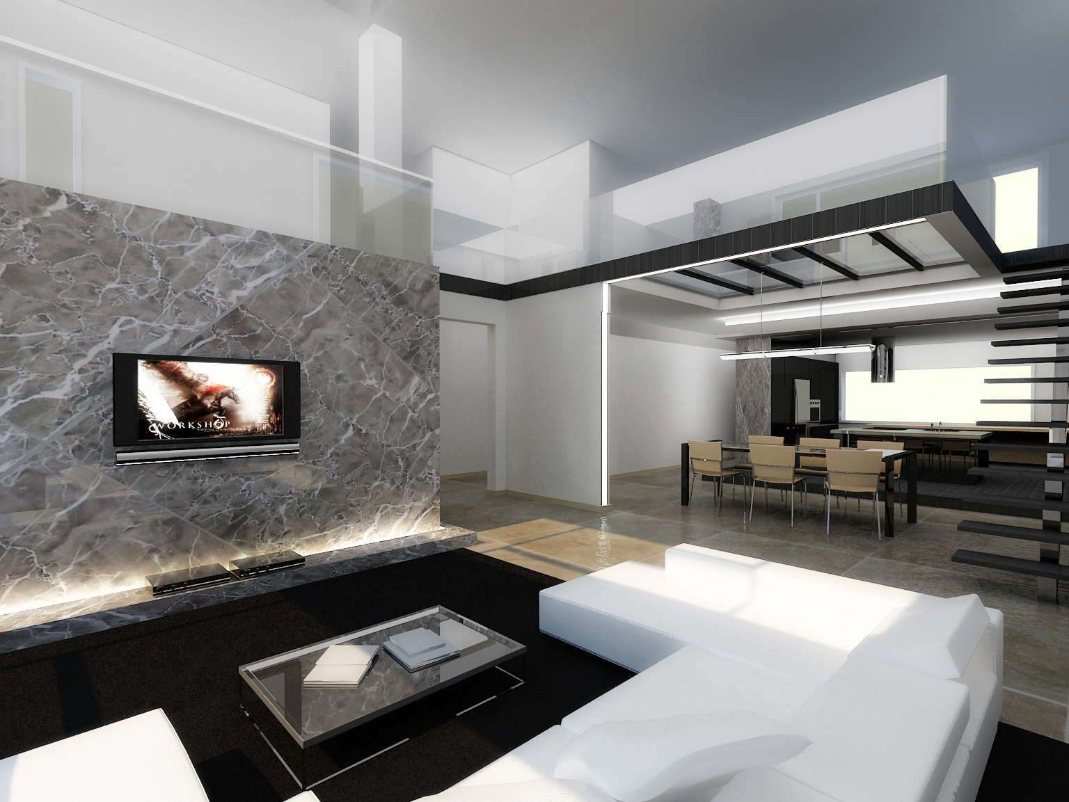 Modern interior by longbow0508 on deviantart for Modern house interior