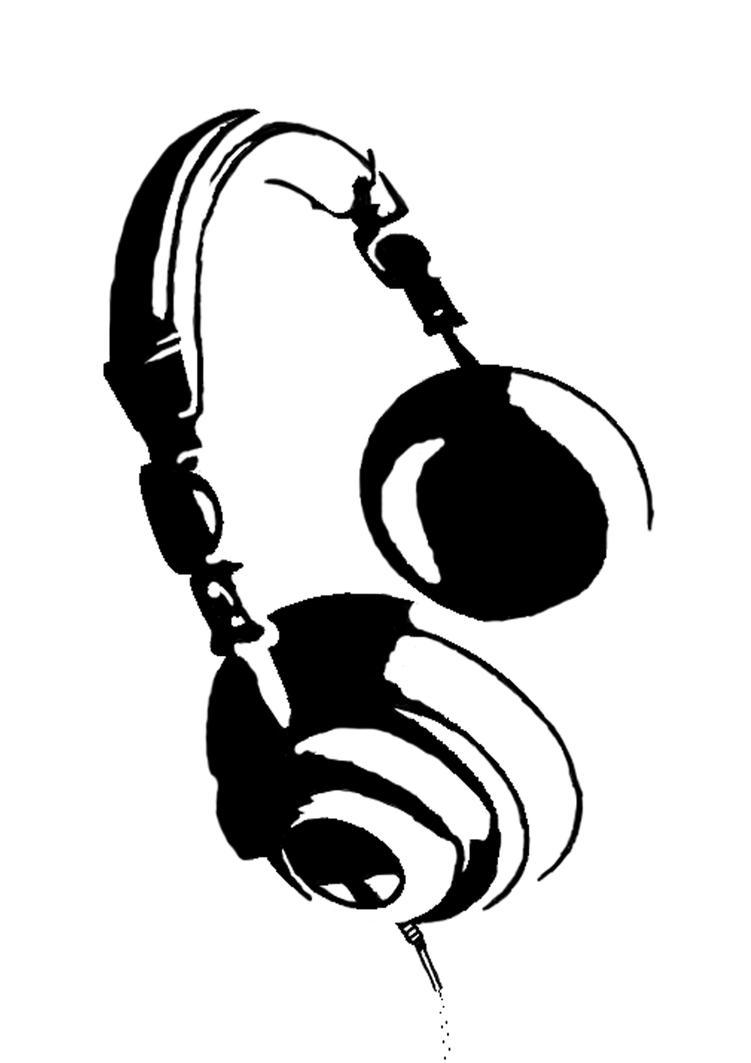 headphones stencil by afivos on deviantart. Black Bedroom Furniture Sets. Home Design Ideas