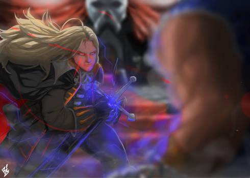 Alucard vs Evil Richter Belmont