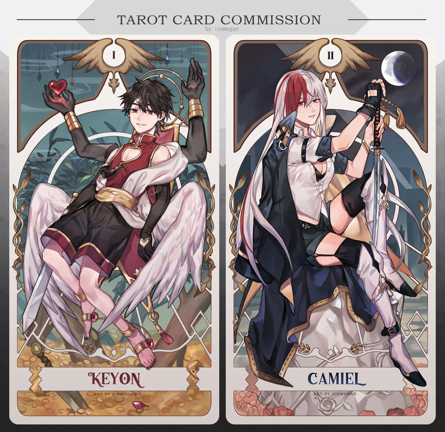 [Tarot card commission] Keyon and Camiel