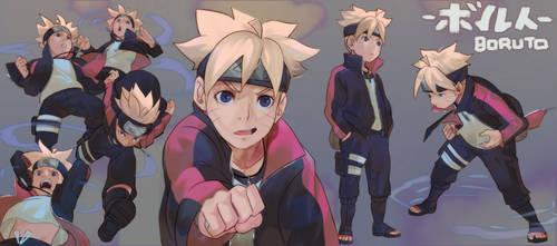 Boruto Sketches by Uzucake