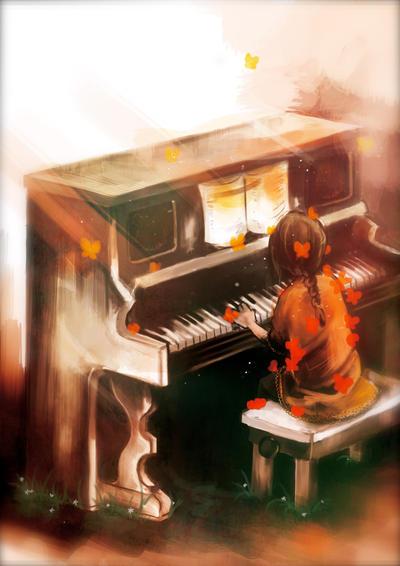 Garden Piano by Naomame