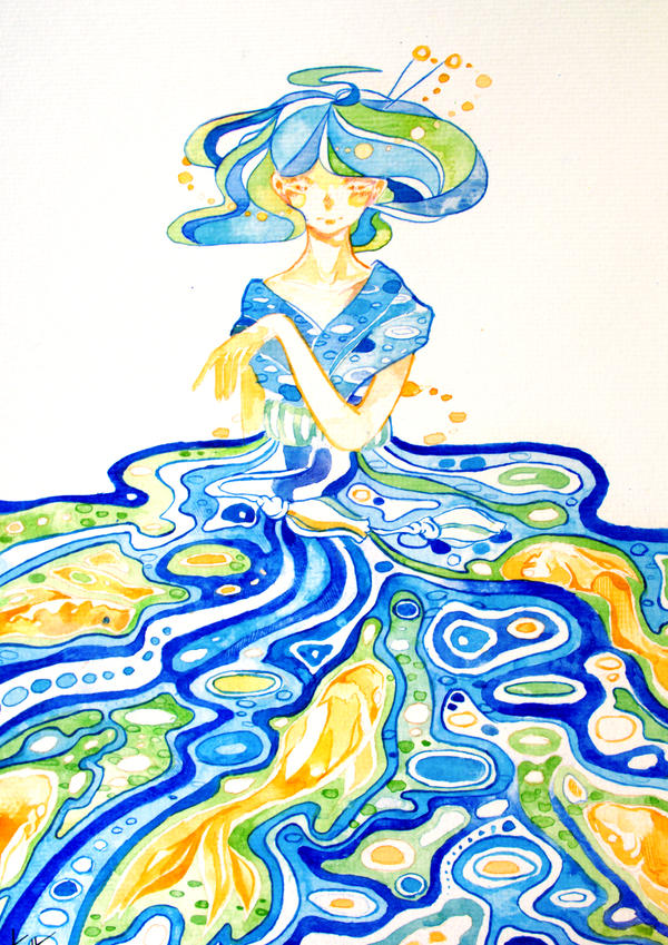 Sea Dress by Na0h