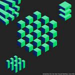 Generative Art, Isometric Synchronized Cubes