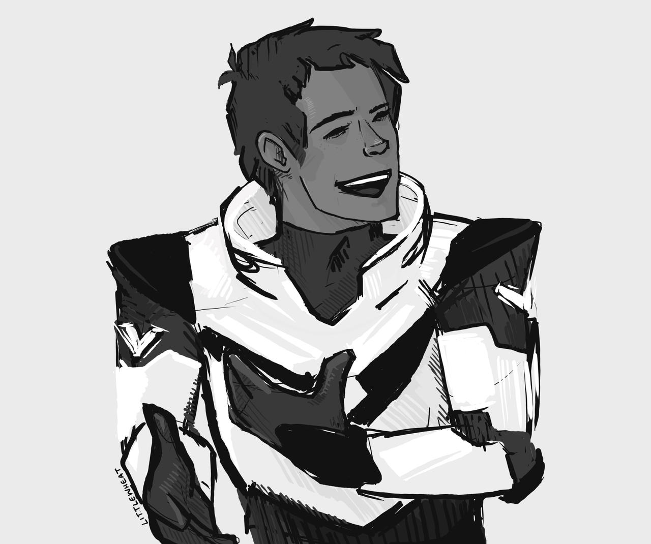 Black Paladin Lance CAN Laugh by LittleWheat