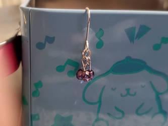 Faceted Purple Cluster earrings