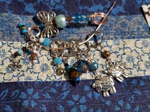 Blue Knitting notions set