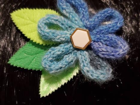 Varigated Flower Barrette