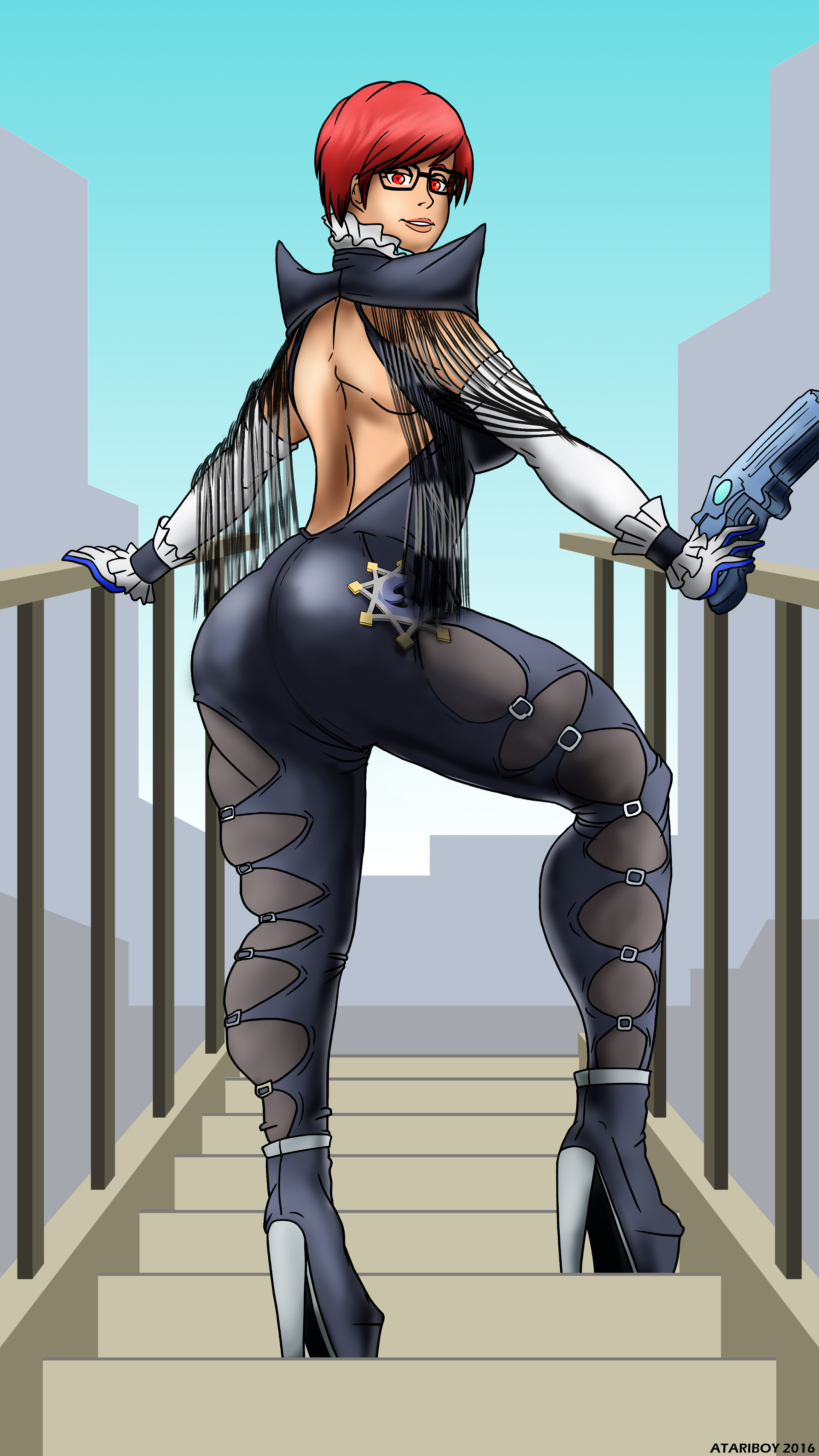 Laura Cosplaying as Bayonetta by DJWill on DeviantArt