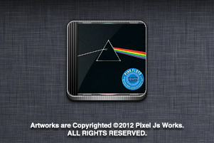 Dark side of the moon CD icon by jays838