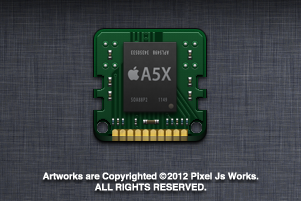 Apple A5X processor icon by jays838