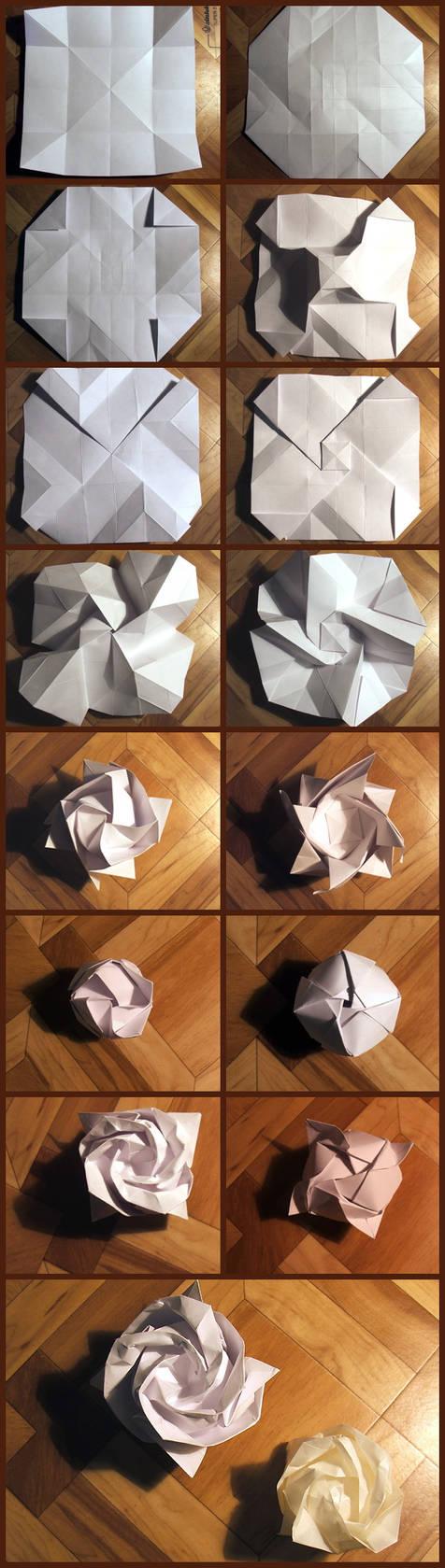 Origami Kawasaki Rose by Toshikazu Kawasaki | Go Origami | 1679x476