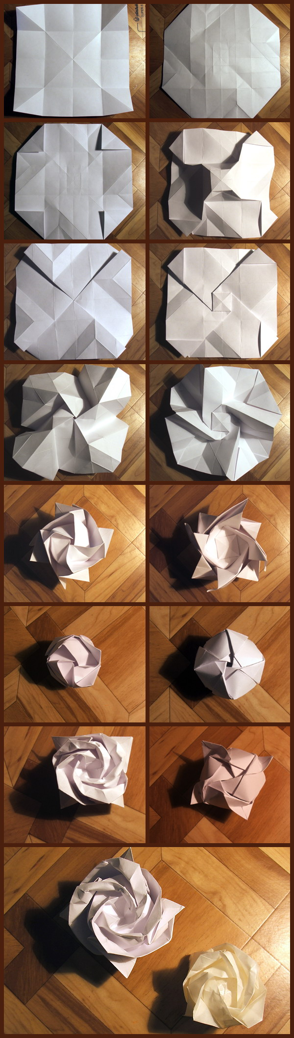 Как сделать из бумаги розу из бумаги