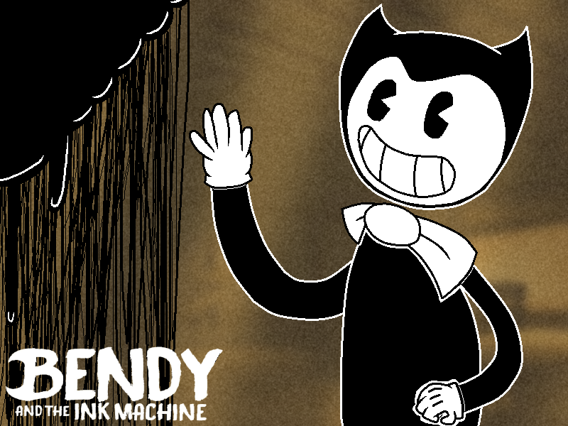 Bendy And The Ink Machine (bendy Negro Y Blanco) by marigetta777