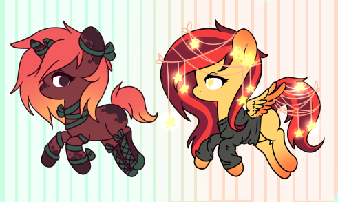 CE - Pony designs for therainbowninjapony by Ruef-Bae