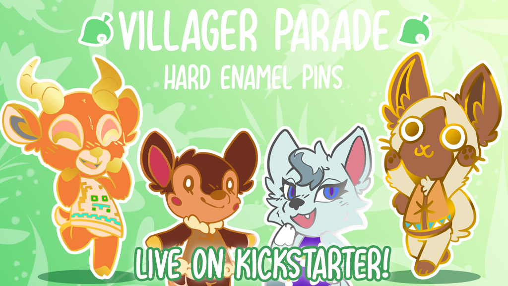 Villager Parade: Hard Enamel Pins!