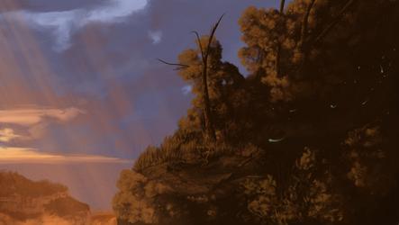 Plateaus and the Setting Sun by Dragoness17