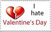I Hate Valentine's Day Stamp by sexypurplebailey