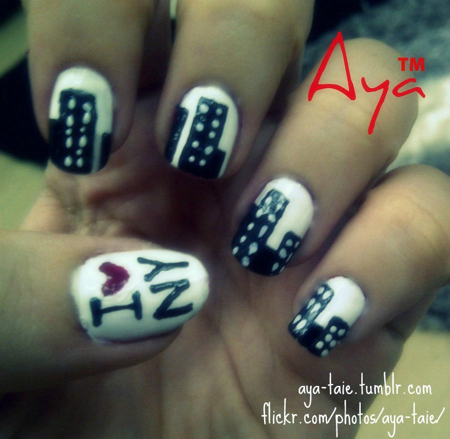 Newyork City Nail Art by Ayooshie on DeviantArt