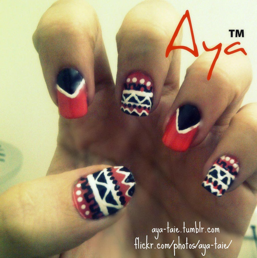 African Nail Art: African Tribal Nail Art By Ayooshie On DeviantArt