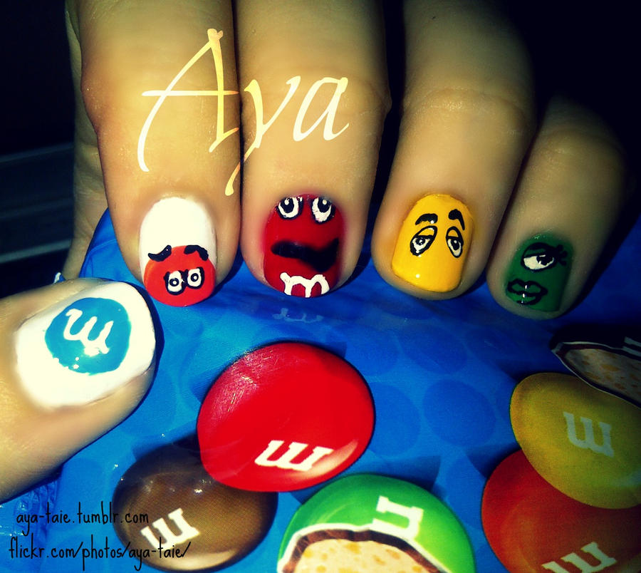 MnMs Nail Art By Ayooshie On DeviantART