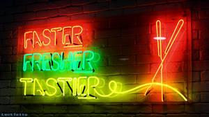 Faster, Fresher, Tastier.