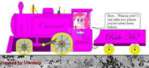 Pinkie Pie's own locomotive...