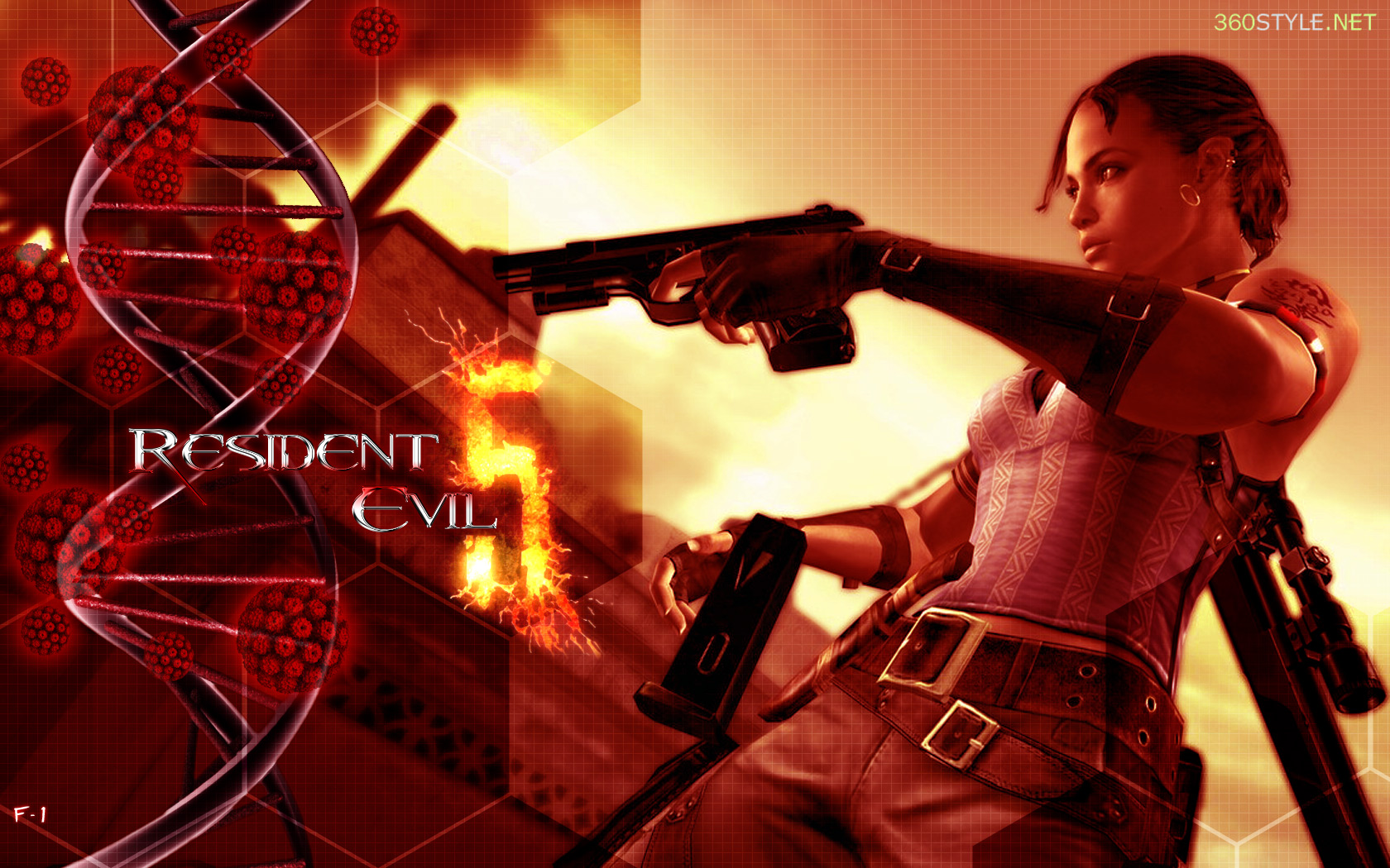 Resident evil 5 wallpaper no 3 by f 1 on deviantart - Wallpaper resident evil 5 ...