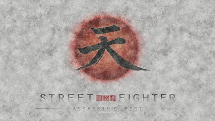 Street Fighter Assassin's Fist Logo White by F-1