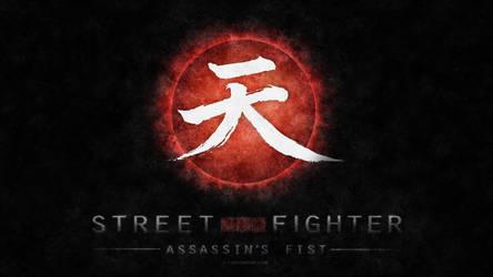 Street Fighter Assassin's Fist Logo (black v2) by F-1
