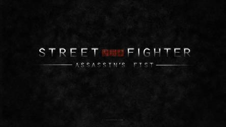 Street Fighter Assassin's Fist Text Logo (Black) by F-1