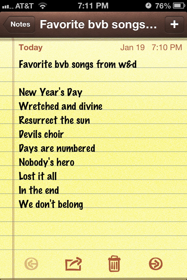 Favorite BVB songs from Wretched and Divine album by VampireSara26