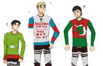 Ugly sweaters x3