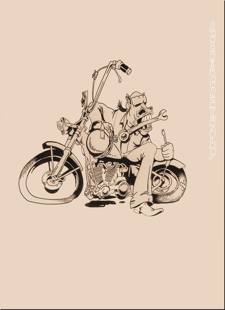 biker 2 by agaricgreywolf