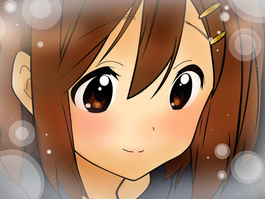 Yui Hirasawa from K-on  by  K On Yui Happy