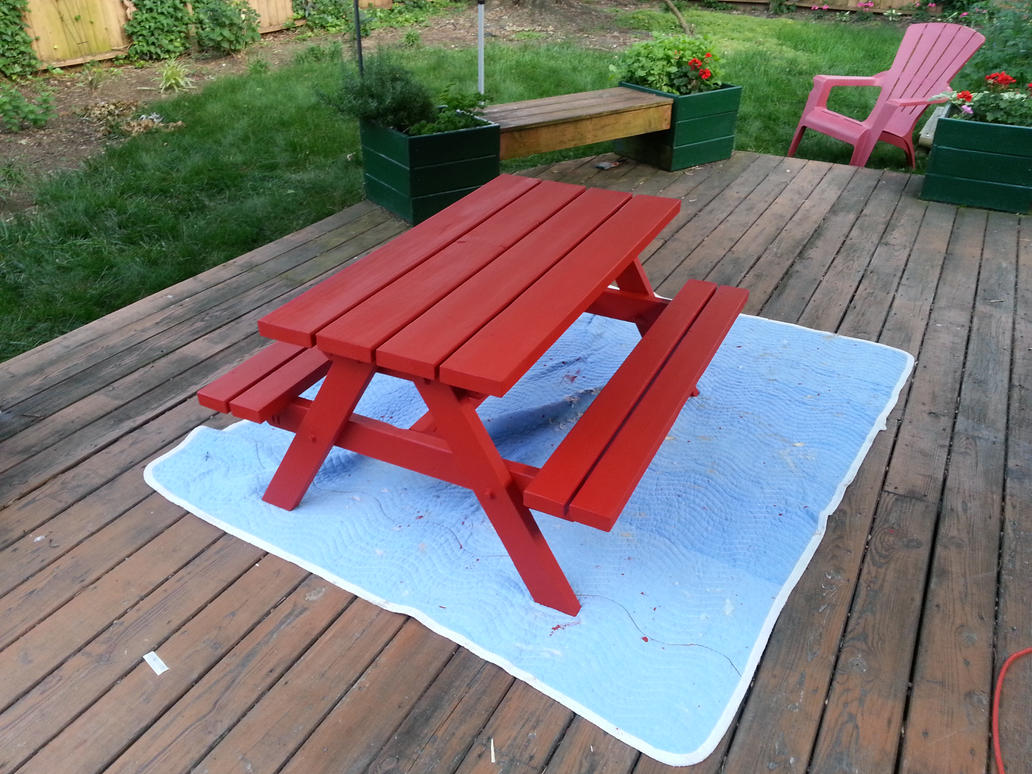 Picnic Table Paint Home Depot