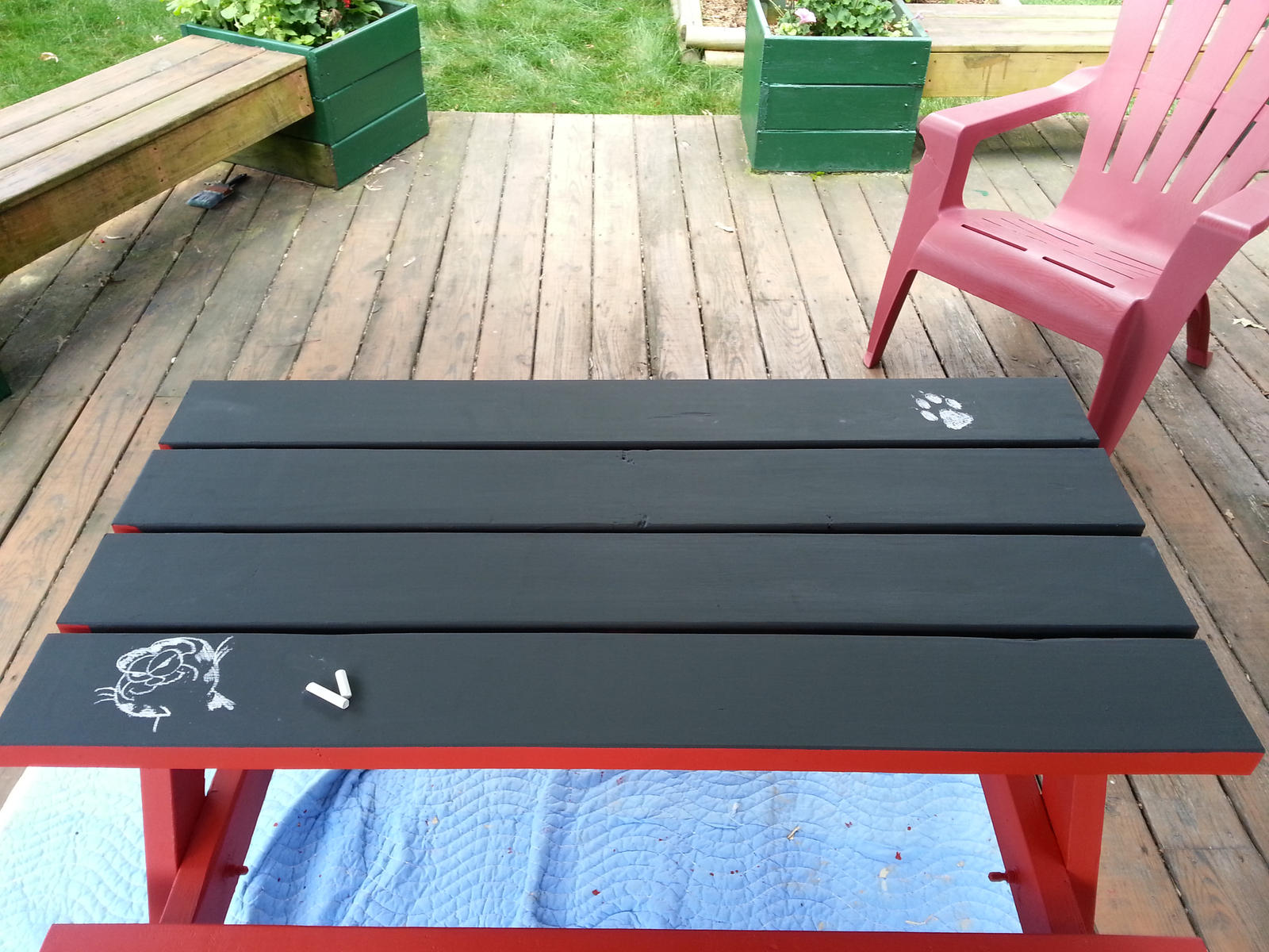 Kids Picnic Table By Portabletaz On DeviantArt - Picnic table paint colors