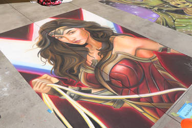 Wonder Woman - Chalk Art - Artist: Kayla Garcia by shadow-tw
