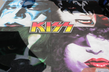 KISS Album Art - Chalk Art - Artist: Shuji Nishimu by shadow-tw