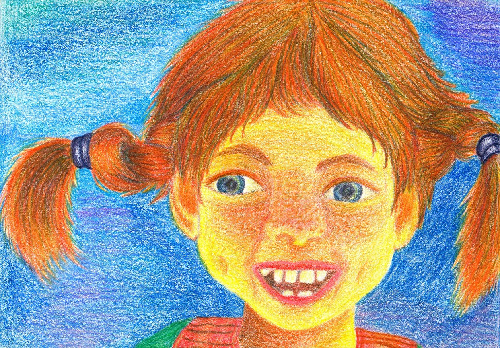 how to draw pippi longstocking